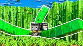 SLIME LAWN MOWER MACHINE! | Minecraft SkyBounds #8 | Bajan Canadian