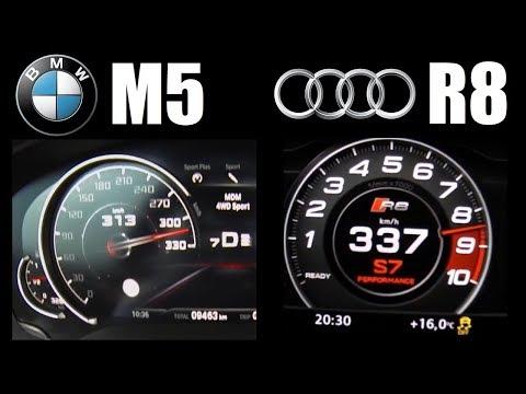 600HP Battle: Audi R8 V10 Plus Vs New BMW M5 F90 Top Speed 0-300 Km/h
