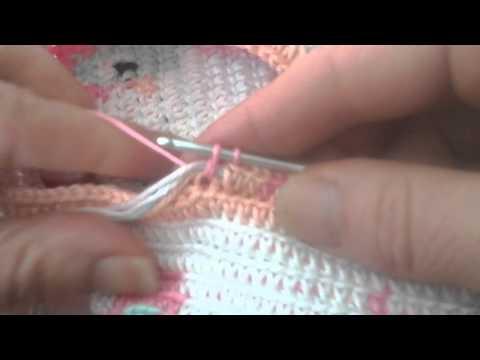 Mochilla bag haken deel 2 de kleur wissel.