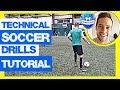 4 Soccer Drills To Improve Soccer Skills Tutorial (Beginners / Kids / Adults)