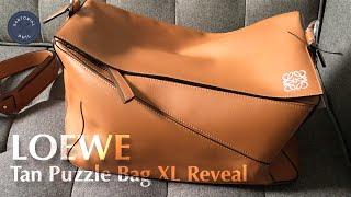 Loewe Men's Bag Reveal: XL Puzzle Bag in Tan