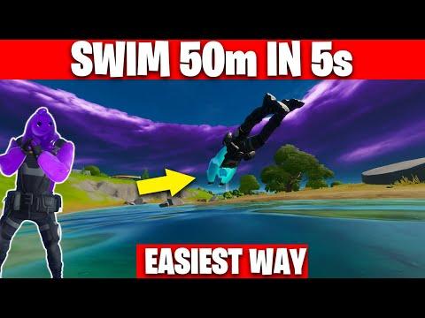 Swim 50 Meters In Under 5 Seconds - Unlock Rippley Vs Sludge Purple Style Fortnite Challenges