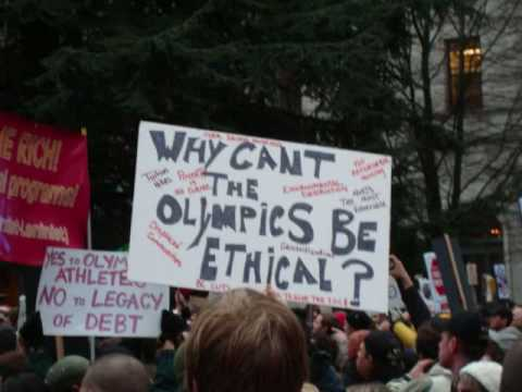 Vancouver 2010 Olympic Protest March - This is what democracy looks like!