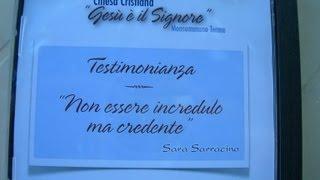 Testimonianza di Sara Sarracino 1° CD