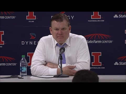 Illinois Postgame Press Conference vs. #6 Michigan State 1/22/18