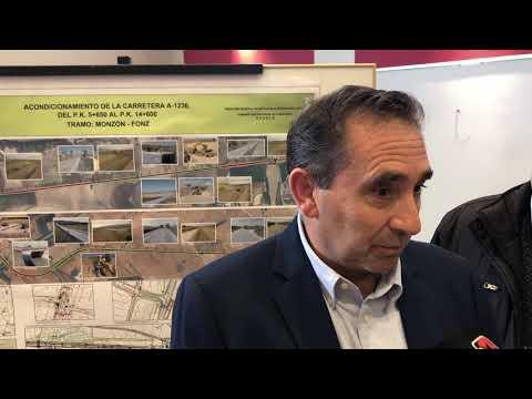El alcalde de Fonz valora la actuación en la carretera a Monzón