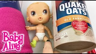 How to Make a Baby Alive Doll Cradle and Blanket with an Oatmeal Container