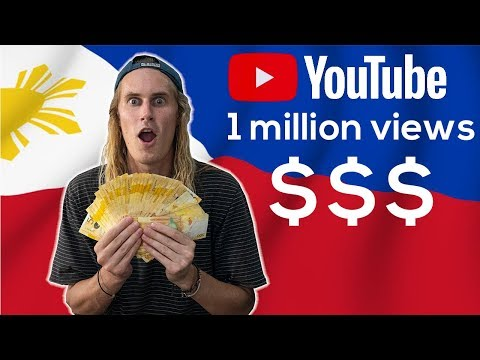 How Much YouTube Pays For 1 MILLION VIEWS In PHILIPPINES (not Clickbait)