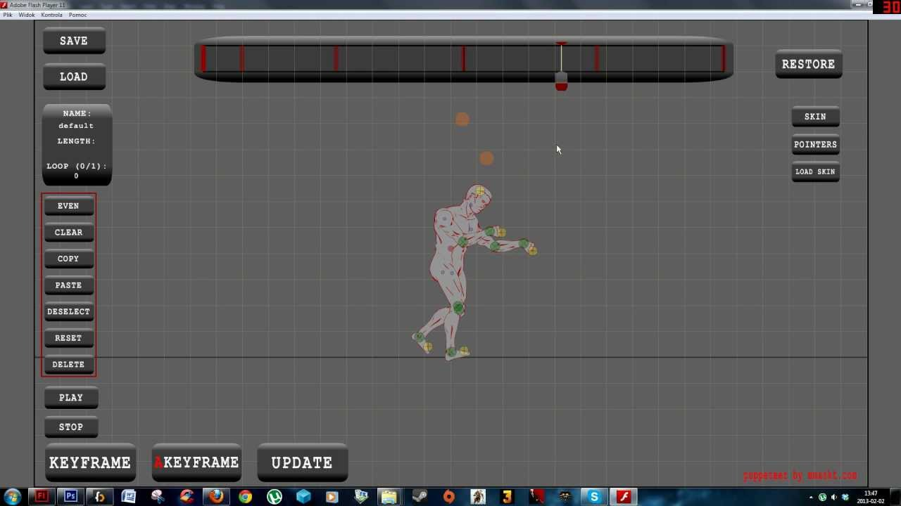 How I create animations for my games - 2d skeletal animation in AS3
