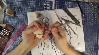 Шарнирная Кукла Своими Руками с Нуля Часть 6 как Лепить Голову. Любуемся Женскими Ножками