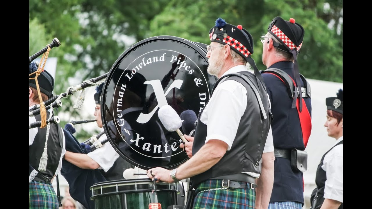 German Lowland Pipes and Drums - Xanten - June 20, 2015
