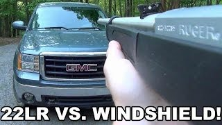 22LR vs. Windshield!  Suppressed FV-SR and 10/22TD