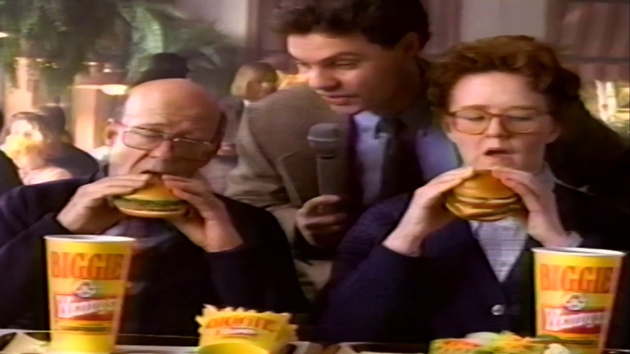 Vintage Wendys Hamburgers Commercial Featuring Dave Thomas 99 Cent Super Value Menu