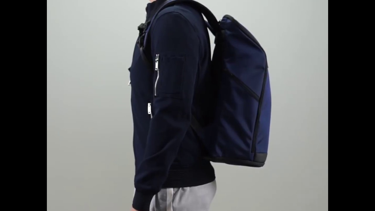 Invisible Backpack THREE - 15 gym and laptop backpack - navy blue ... d100ff0facd49