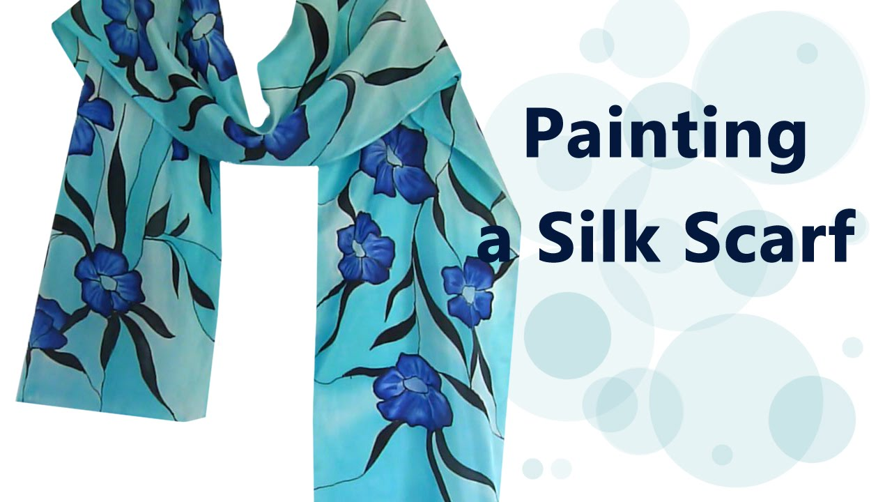 how i paint a silk scarf painting steaming etc