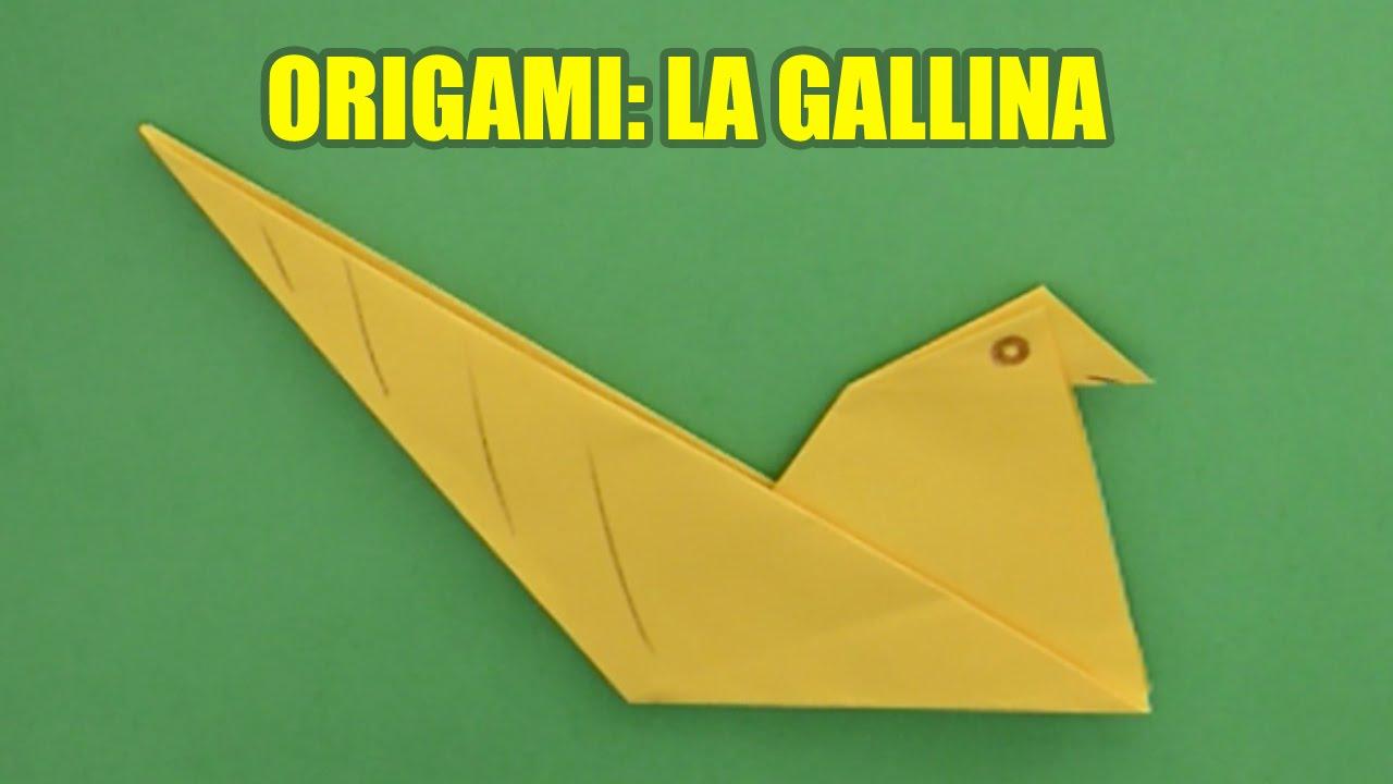 de papel origami facil de papel para nios la gallina youtube
