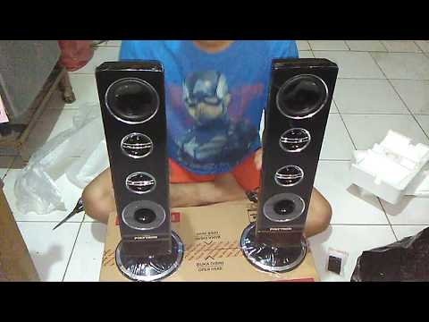 UNBOXING TV LED POLYTRON 32 INCH + TWO TOWER SPEAKER
