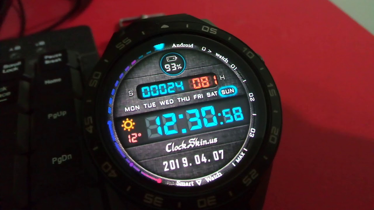 DIGITAL WATCH, Watch face, Android 5 1 & Android 7 smart