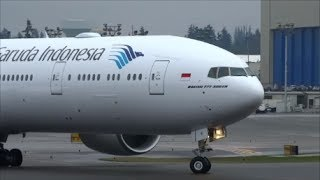Garuda Indonesia 4th 777 Delivery Flight of PK-GIE