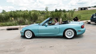Drifting my Miata during a Commercial Shoot!