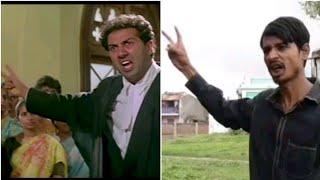 Tarikh Pe Tarikh - Sunny Deol Spoof   Bollywood Movie Scene - Damini