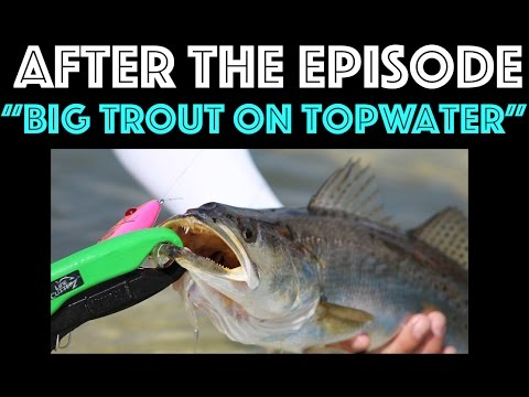 After The Episode - Big Trout on Topwater - Pensacola Florida
