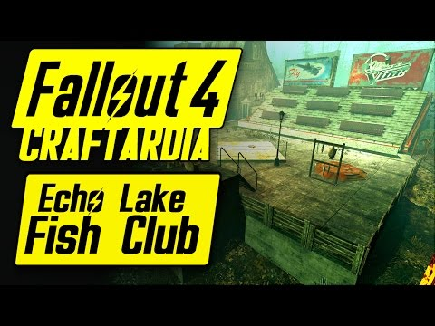 Fallout 4 Echo Lake Fish Club - Fallout 4 Base Building - Far Harbor Echo Lake Lumber Settlement
