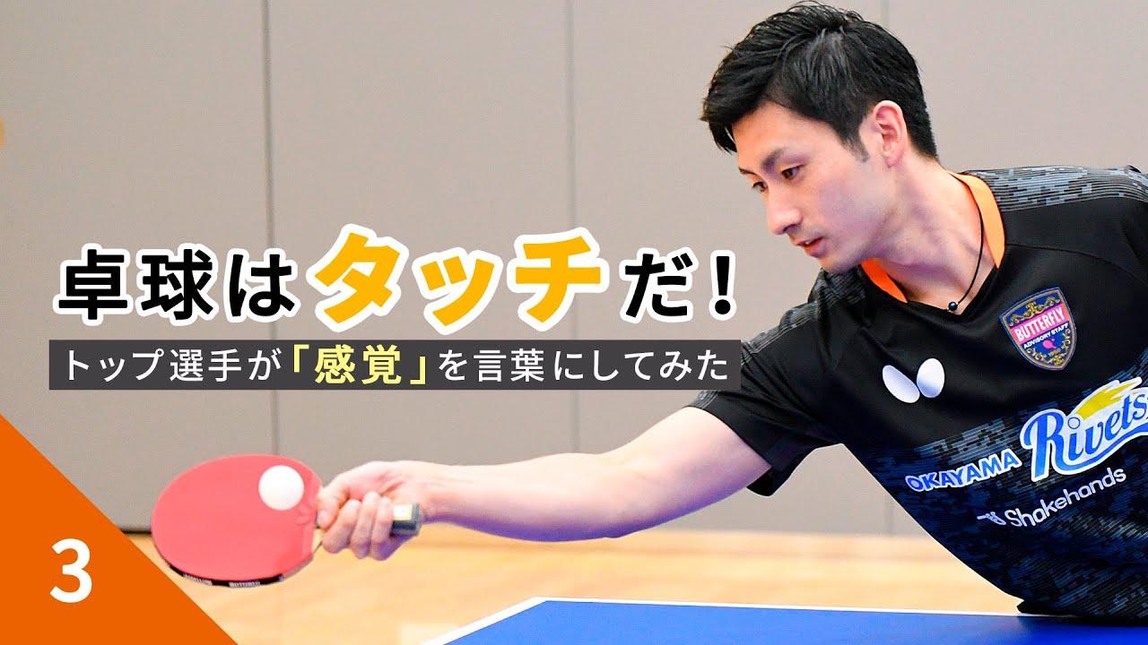 卓球はタッチだ! 切るストップ 上田 仁