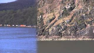 Hudson River Trains - Storm King Mountain