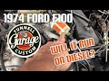 Video 81 - 1974 Ford F100 restoration:  a really dumb mistake and EFI install begins