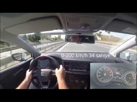 Seat Leon 1.4 TSI 150k Acceleration 0-100-160, 80-120
