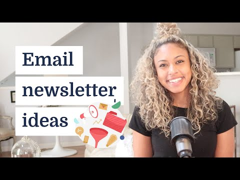 7 newsletter content ideas to send your followers