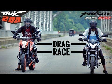 "Duke 200 VS Pulsar NS 200 - Drag Race | BS IV | HIGHWAY RUN ""2018"""