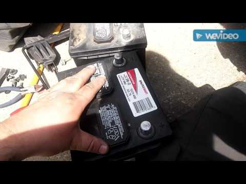 How to replace a battery in a 2011 dodge avenger