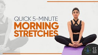 Quick 5-Minute Morning Stretches   Shilpa Shetty Kundra   Simple Soulful App screenshot 1