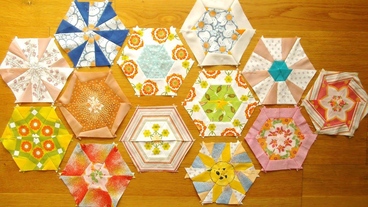 Patchwork – Kaleidoskopdecke nähen – zusammengesetzte Hexagone 61 ...