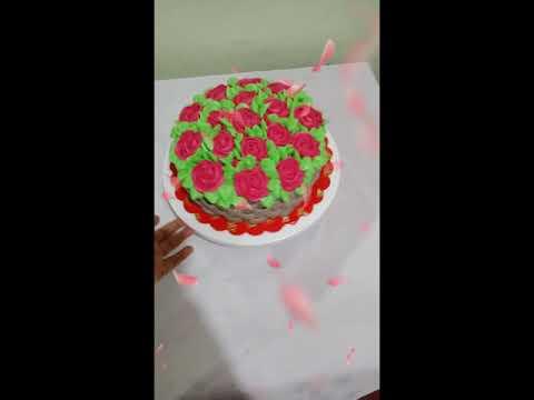 Flower Bouquet Cake Design
