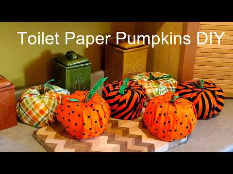 Toilet Paper Pumpkins DIY