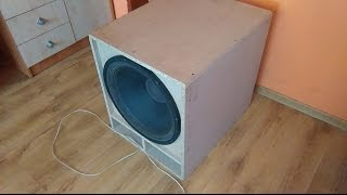 Bass I love you on my 18' subwoofer ( No Excursion ! )