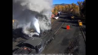 10/19/2018 An 8 car train 216 departs Chama, NM