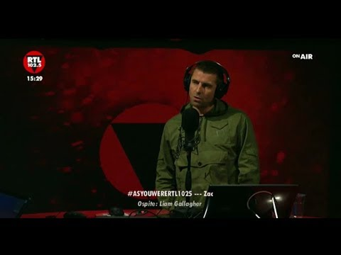 Liam Gallagher - RTL radio Italy (video broadcast October 6, 2017)