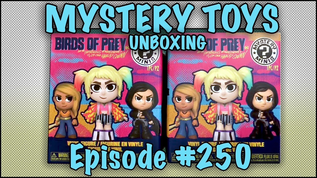 Mystery Toys Episode 250 Unboxing Funko Birds Of Prey Mystery Minis Youtube