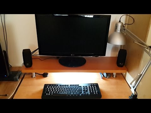 DIY Monitor Stand Riser With Stainless Steel Legs from IKEA