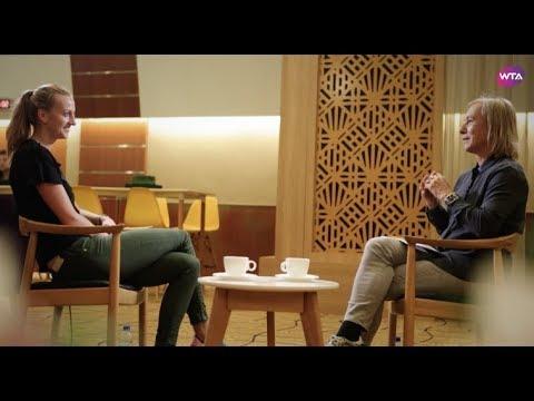 In conversation: Petra Kvitova talks to Martina Navratilova