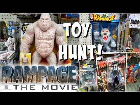 RAMPAGE TOYS AT WALMART TOY HUNTING WWE MONSTERS BLACK PANTHER TOYS 2018