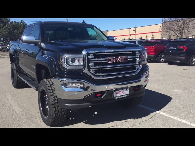 2018 GMC Sierra 1500 SLT 7 Inch Rough Country Lift Fuel Wheels Toyo Tires Oshawa ON Stock #180132