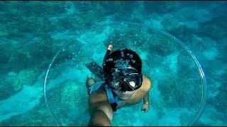 Swimming Through an Underwater