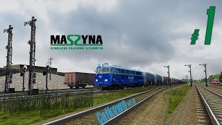 "Symulator ""MaSzyna"" - paskudnik z maszynistą na szlaku."