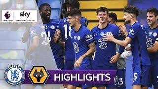 Timo Werner sieht tolles Freistoßtor | FC Chelsea - Wolverhampton 2:0 | Highlights - Premier League