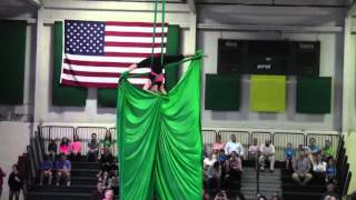 Sau gymmasters homeshow 2015  silk routine